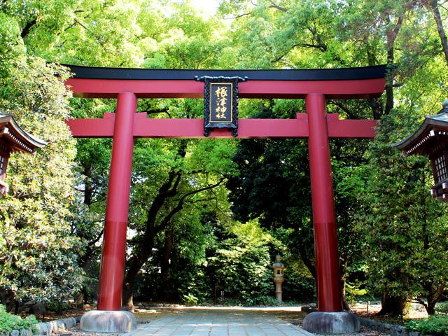 根津神社アクセス鳥居