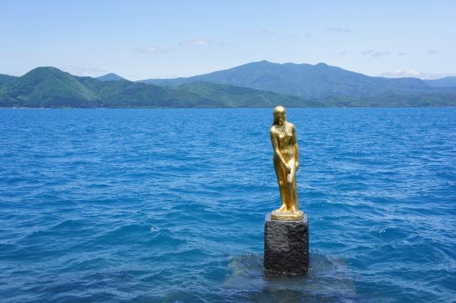 秋田県田沢湖たつこ像