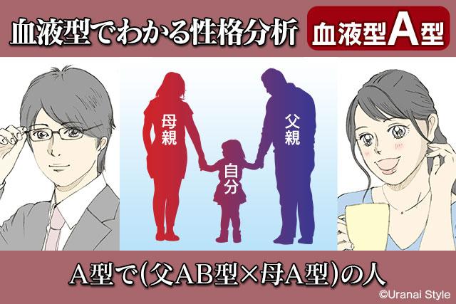 血液型占い父AB型母A型から誕生したA型の人の特徴性格